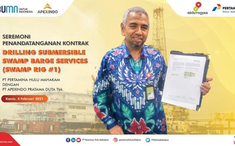 PT Pertamina Hulu Mahakam dan Apexindo Teken Kontrak Rig Senilai US$ 68 juta