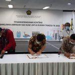 Kontrak Pembangunan Jargas Tahap III Sebanyak 44.461 SR Diteken